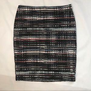 Ann Taylor NWT Multi Color Print Pencil Skirt 10